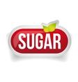 Sugar button icon red vector image vector image