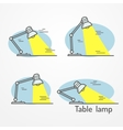 Table lamp with light vector image