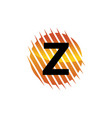 technology letter z vector image vector image