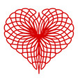 thread heart icon simple style vector image vector image