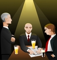 Three businessmen relaxing after work vector image