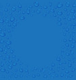transparent water drops round frame or border vector image