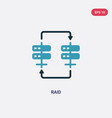 two color raid icon from web hosting concept vector image vector image