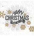 vintage retro christmas lettering vector image vector image