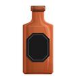 whiskey bottle icon cartoon style vector image