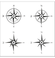 Windrose navigation symbol vector image vector image