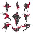 Superhero comics set vector image