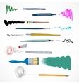 Drawing tools icon sketch vector image