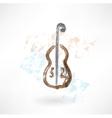 music cello grunge icon vector image