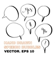 PrintHand drawn speech bubbles vector image