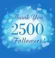 2500 followers hearts vector image vector image