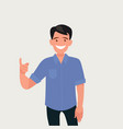 a man with happy face and great idea vector image vector image