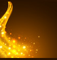 abstract background with yellow lighting flare vector image