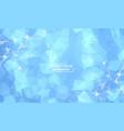 abstract blue polygonal space background with vector image vector image