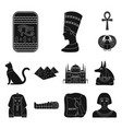 ancient egypt black icons in set collection for vector image vector image
