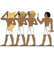 ancient egypt builders vector image vector image