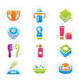 babys things icon set vector image vector image