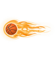 basketball ball flame vector image vector image