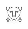 bear stock market finance trade line icon vector image vector image