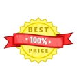 Best price rosette icon cartoon style vector image