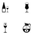 beverage icon set vector image vector image