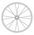bike wheel mesh carcass model vector image vector image