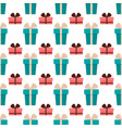 birthday party celebratory seamless pattern vector image vector image
