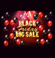 black friday sale banner poster advert vector image