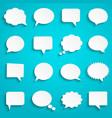 blank empty paper white speech bubbles vector image vector image