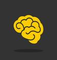 brain - icon brain in flat design vector image vector image