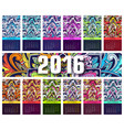 calendar 2016 year set of ethnic ornament banners vector image vector image