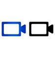 camcorder icon vector image vector image