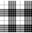 cameron black white tartan pixel seamless pattern vector image vector image