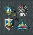 Camping and hiking badges vector image vector image