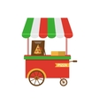 Cart of Pizza Isolated vector image