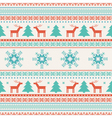 Christmas traditional knitted ornament vector image vector image