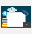 class 2019 graduarion design elements empty vector image vector image