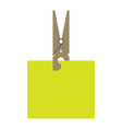 Clothes peg and reminder note vector image vector image