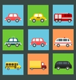 Collection of flat transport icons vector image