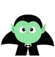 count dracula wearing black cape cute cartoon vector image vector image