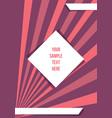 creative leaflet template design vector image