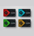 design a gift black card with diamond-shaped vector image
