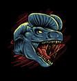 dilophosaurus head vector image