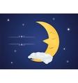 Fairytale sleeping moon vector image vector image