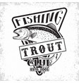 fishing club logo vector image vector image
