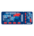 football ticket for entrance to the stadium vector image