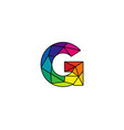 g colorful low poly letter logo icon design vector image