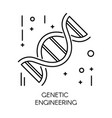 genetic engineering dna molecule isolated outline vector image