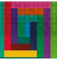 geometric multicolor block background patterns vector image