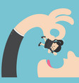 giant businessmen are going to eat small business vector image vector image